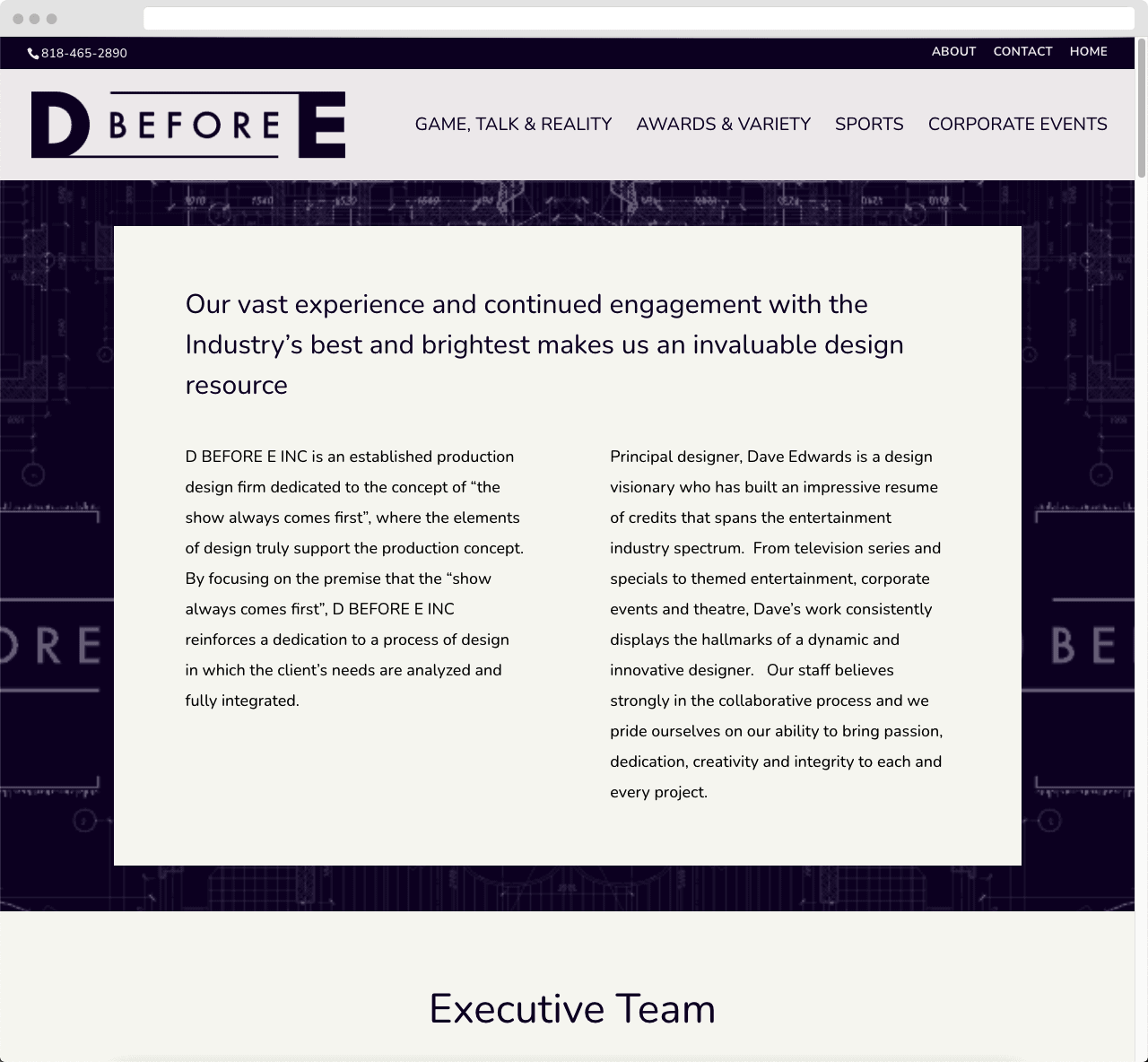DbeforeE 03 WordPress Website Design